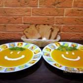 Яскравий гарбузово-овочевий суп-пюре