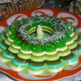 Йогуртовий десерт з желе з ківі