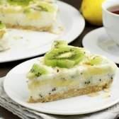 Йогуртовий торт з ківі і бананами