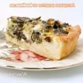Відкритий пиріг з пореєм, грибами і бринзою - рецепт