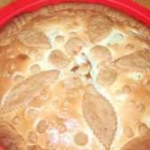 Твороженний пиріг з яблучно-грушевої начинкою під сметанною заливкою - рецепт