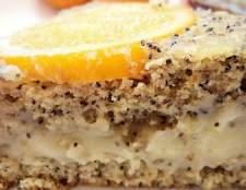 Апельсиново-маковий торт