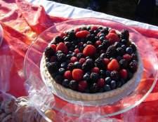 Як приготувати ягідний пиріг з хересом