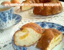 Кекс з персиками - рецепт