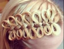 Кіски з бантиками з волосся