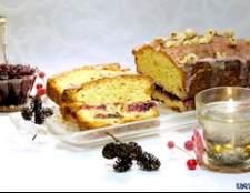 Орехово-журавлинний кекс з домашнім журавлинним джемом - рецепт