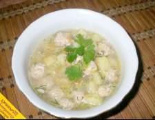 Суп з фрикадельками з індички (покроковий рецепт з фото)