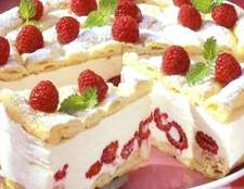 "Торт ""пташине молоко з малиною"""